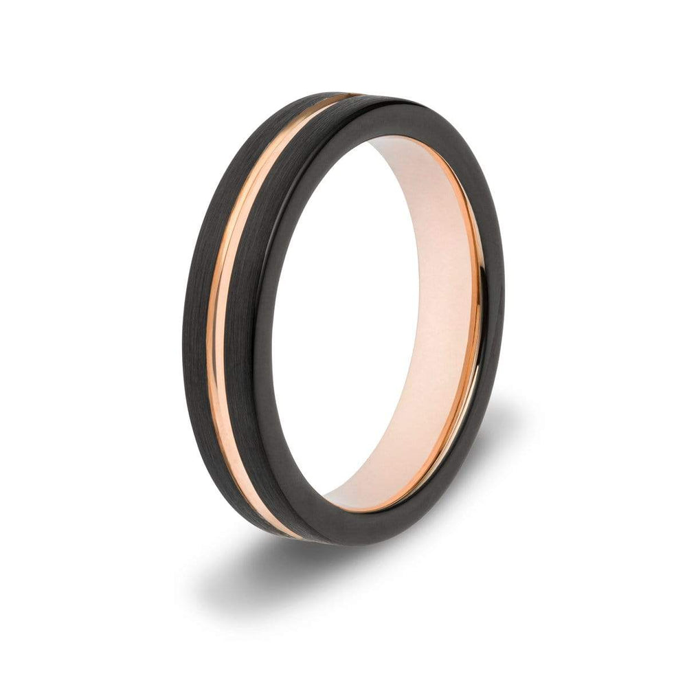 Women's Grooved Tungsten Ring