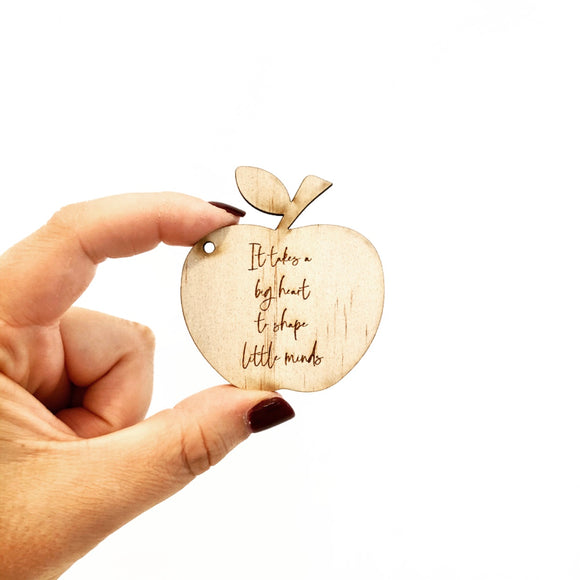 The Teacher Apple Key Tag