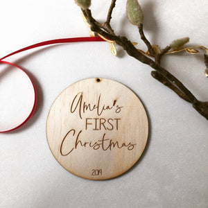 The Personalised First Christmas Plaque