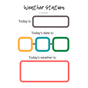 The Weather Station Worksheet