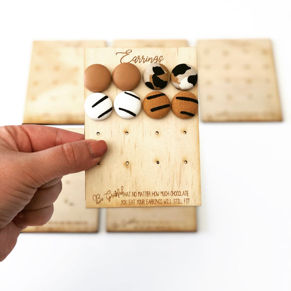The Earring Travel Storage Board
