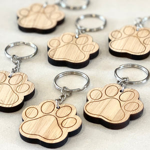 The Paw Print Key Tag