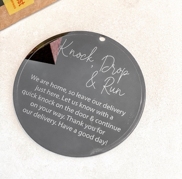 The Knock and Drop Plaque