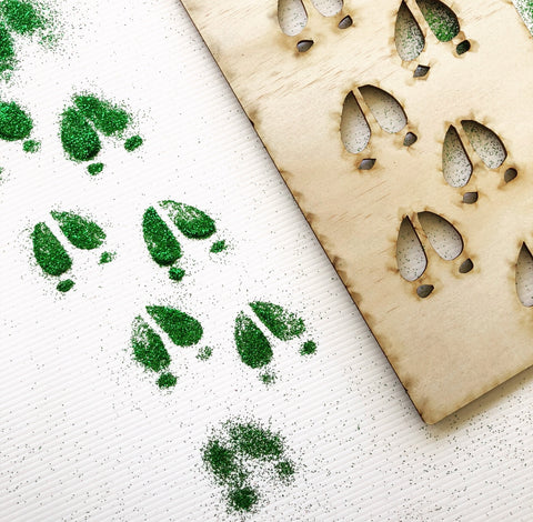 The Reindeer Footprint Stencil
