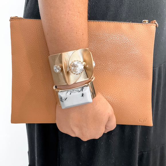 The Leather Clutch