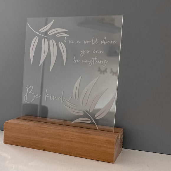 The Be Kind Plaque