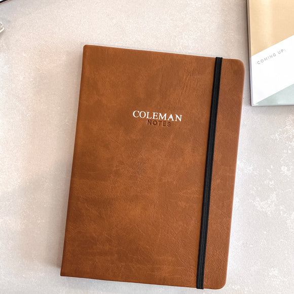 The Monogrammed Leather Notebook