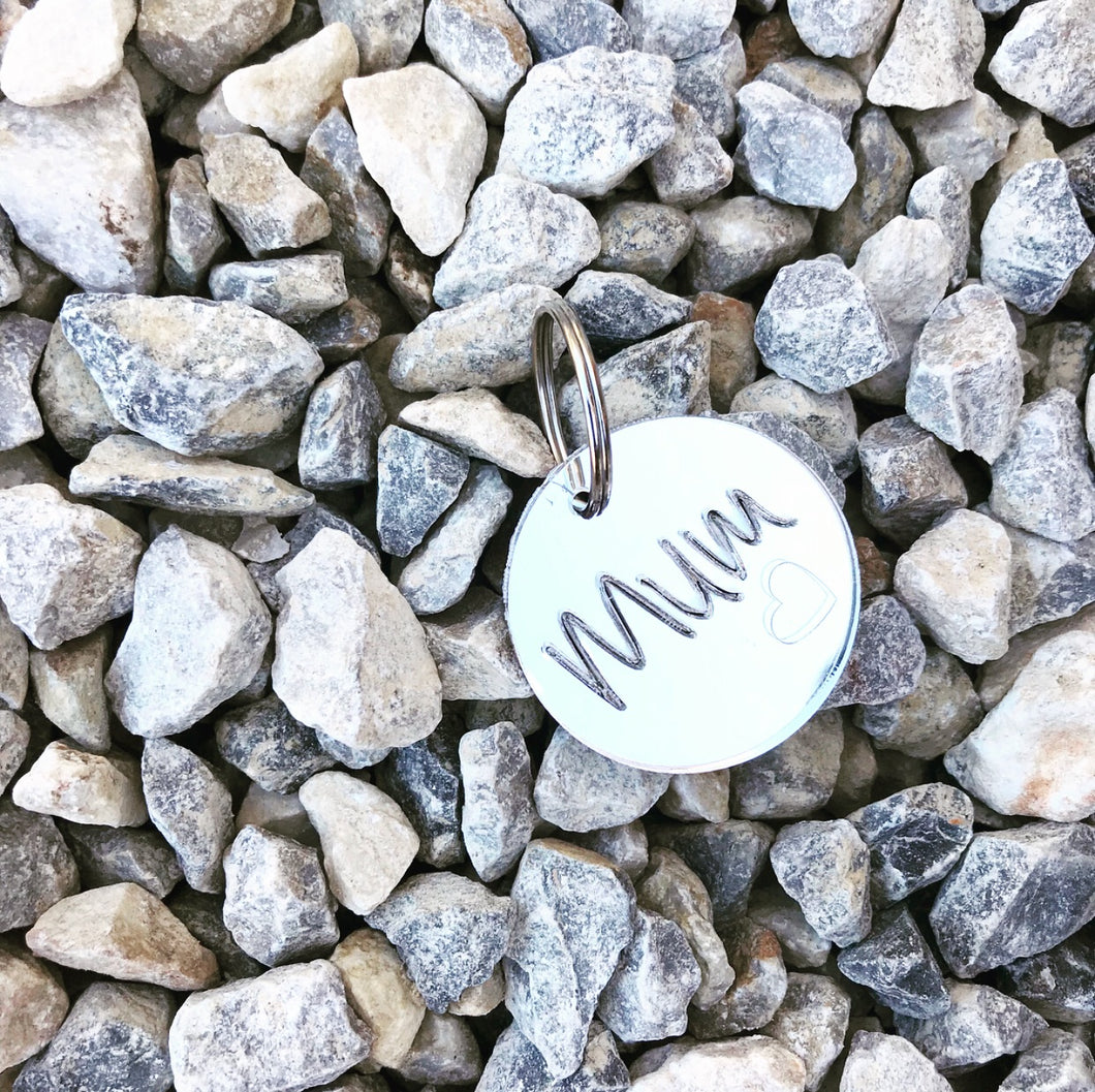 The Mirrored Mum Key Tag