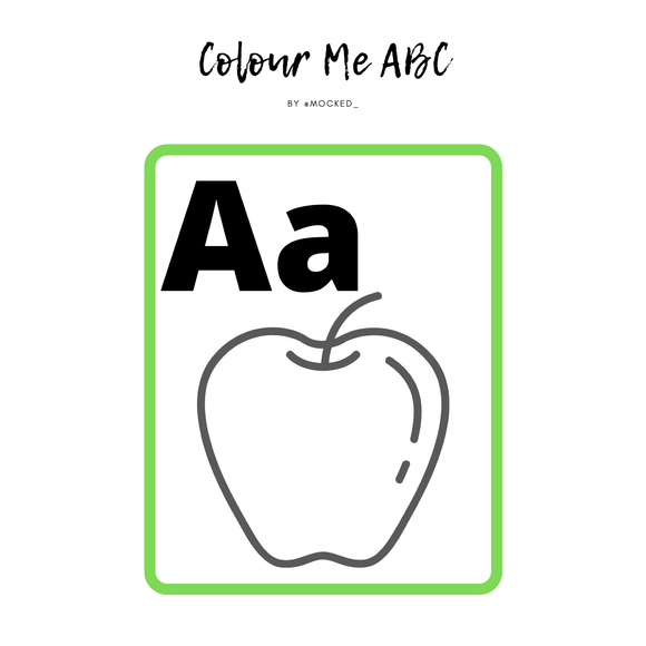 The ABC Colour Me Cards