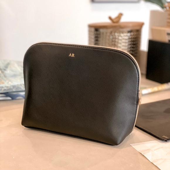 The Leather Makeup Bag