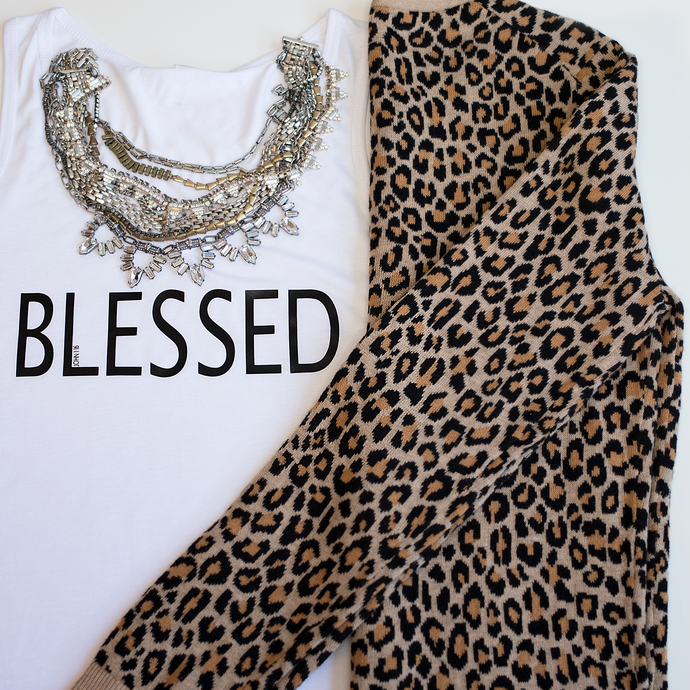 Blessed V-Neck Tank - Living On A Prayer Boutique