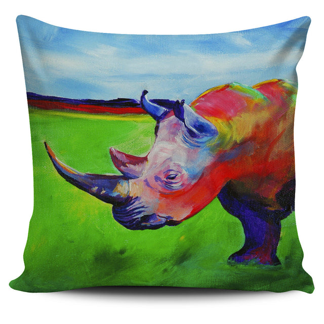 Rhino Pillow Cover