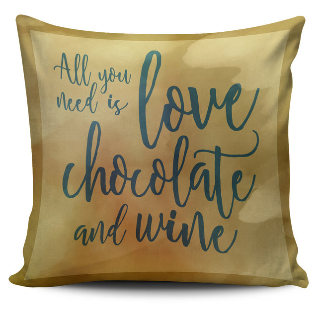 Wine and Chocolate Pillow Cover