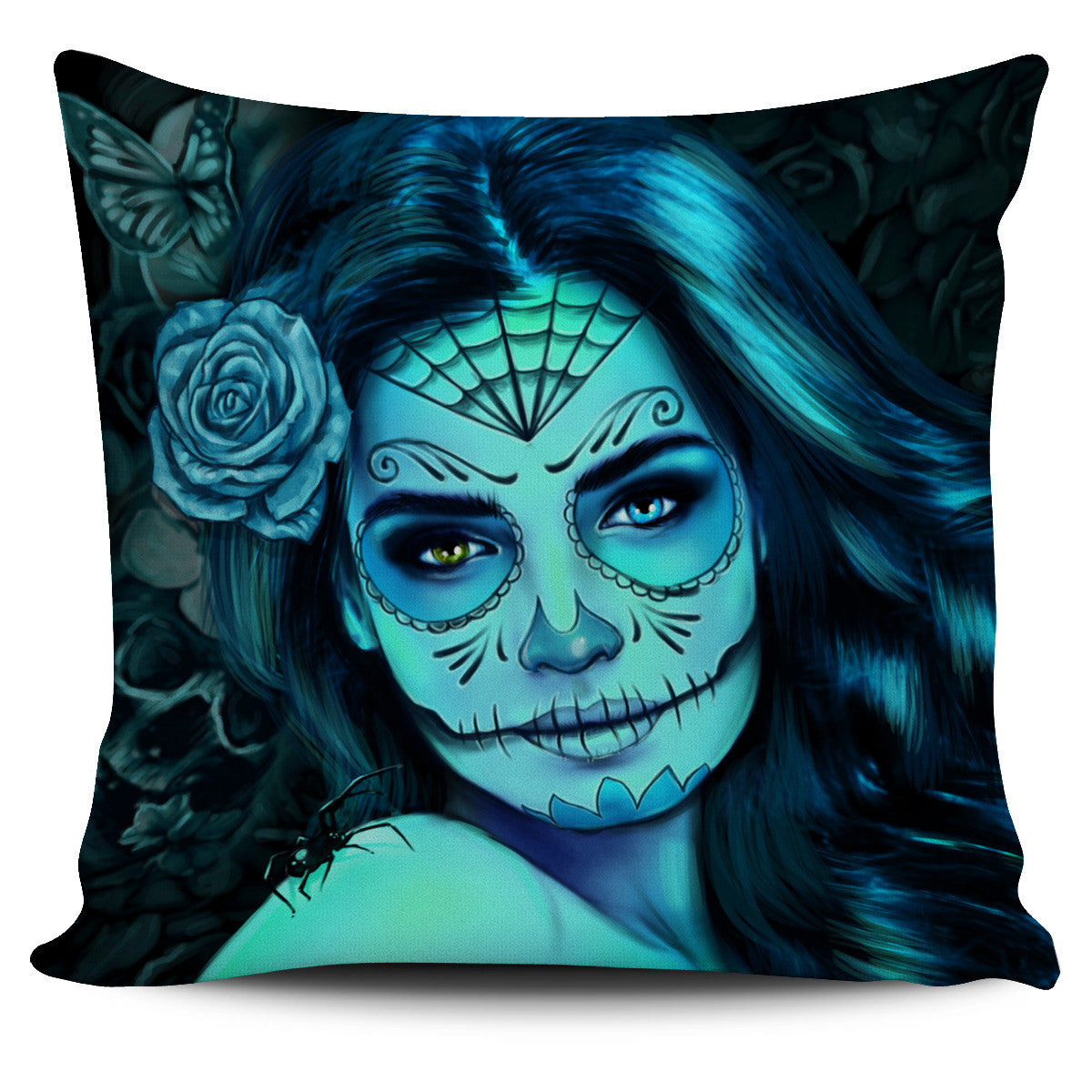Blue Calavena Girl Pillow Cover