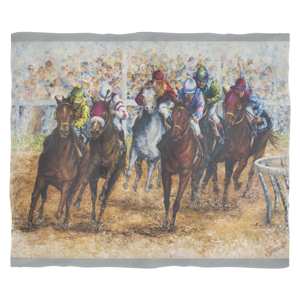Horse Races Blanket