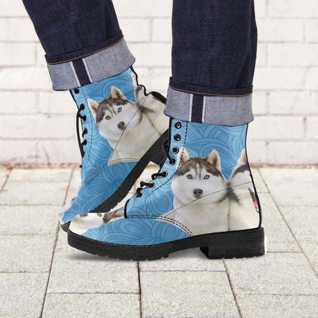 Huskies Leather Boots