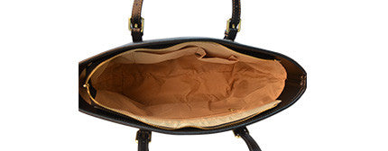 Inside Large Leather Tote Bag