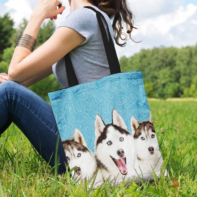 Huskies Tote Bag