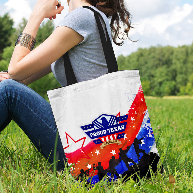 Proud Texas Veteran Tote Bag