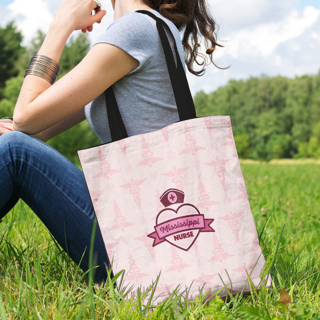 MS Nurse Pink Tote Bag