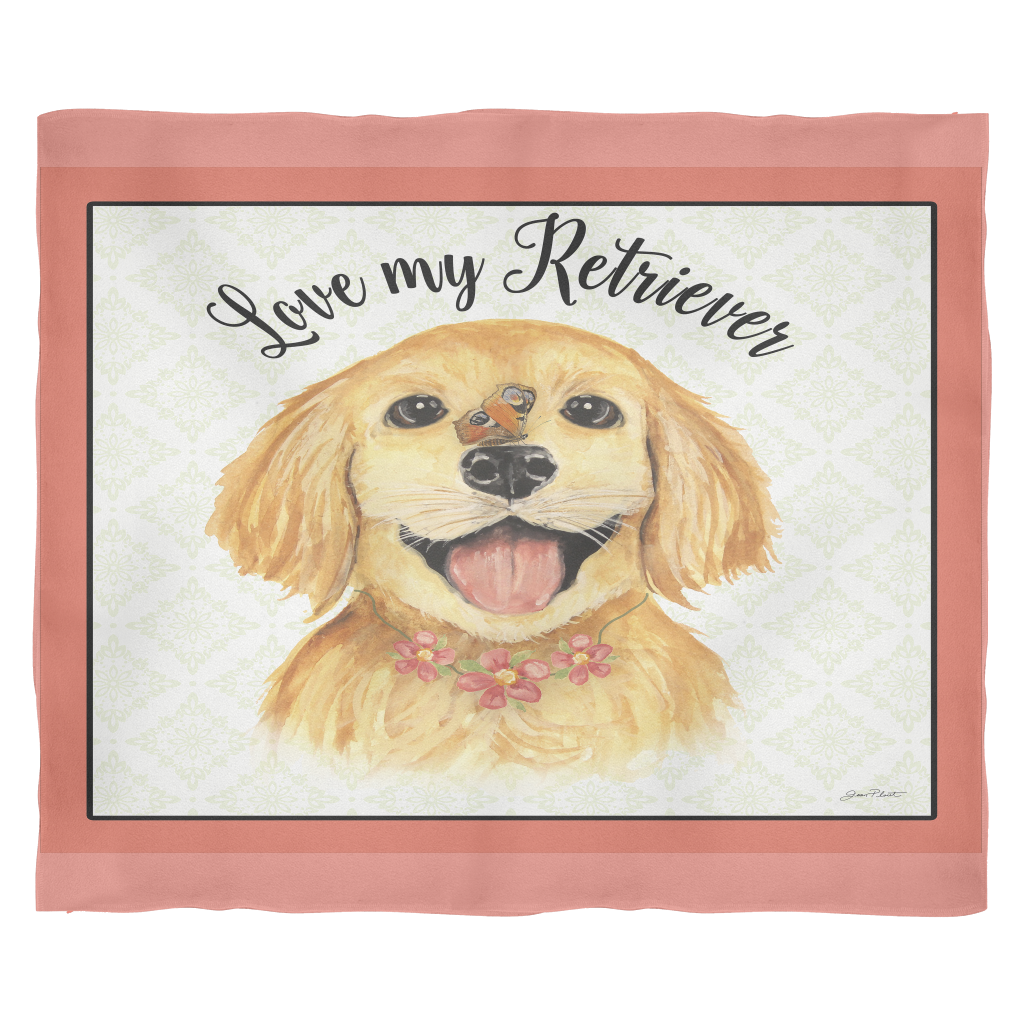 Retriever Love Blanket