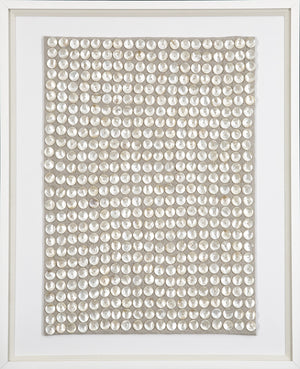 Mother of Pearl Framed Textile | Wall Art | Local Shop | Houston | Wall Half Full