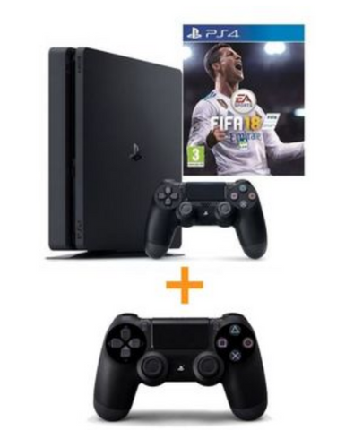 PS4 SLIM 500GO + FIFA 18 + DS4