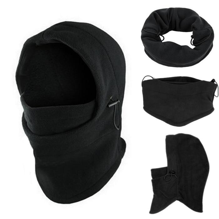 6 in 1 Balaclava Hood - Black | Action Pro Sports