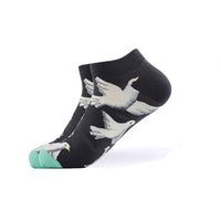 Cool Socks Dude - Sport & Dress Socks - Blue White Dove Ankle Socks - Action Pro Sports