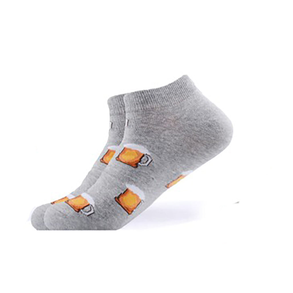 Grey Beer Mug Ankle Socks - Action Pro Sports