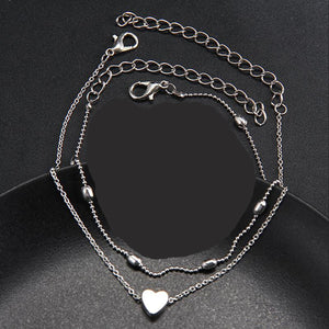 Heart & Bead Strand Anklets - Action Pro Sports
