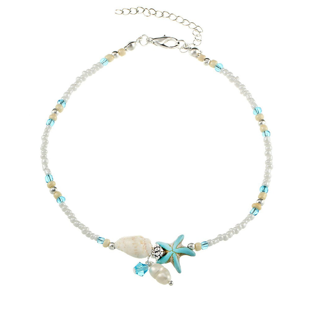 Starfish & Shell Anklets - Action Pro Sports