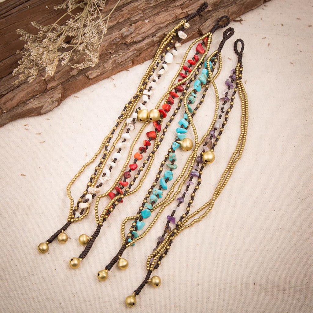 Stone & Bead Strand Anklets - Action Pro Sports
