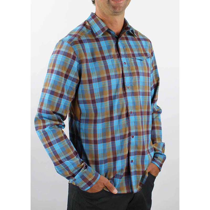 Go Long Men's Shirt - Desert Plaid | Action Pro Sports