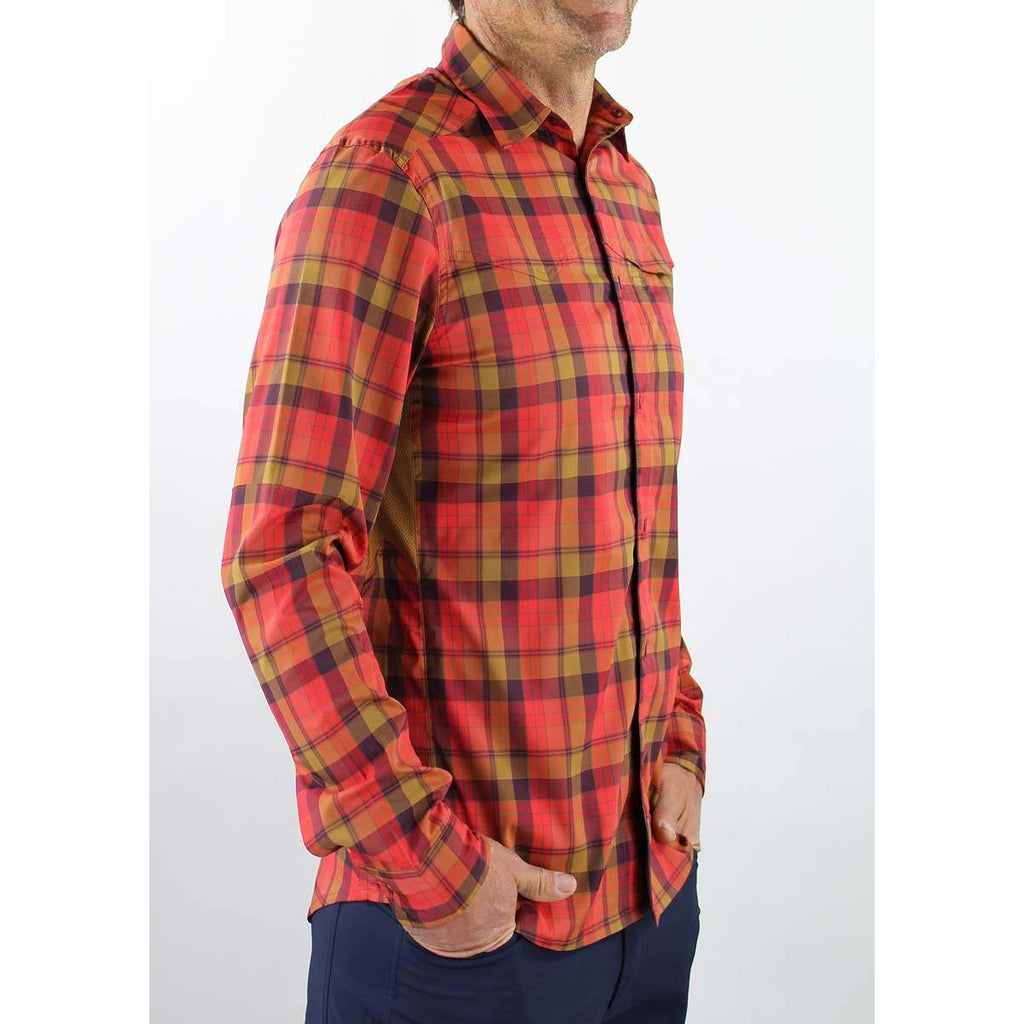 Go Long Men's Shirt - Flame Plaid | Action Pro Sports