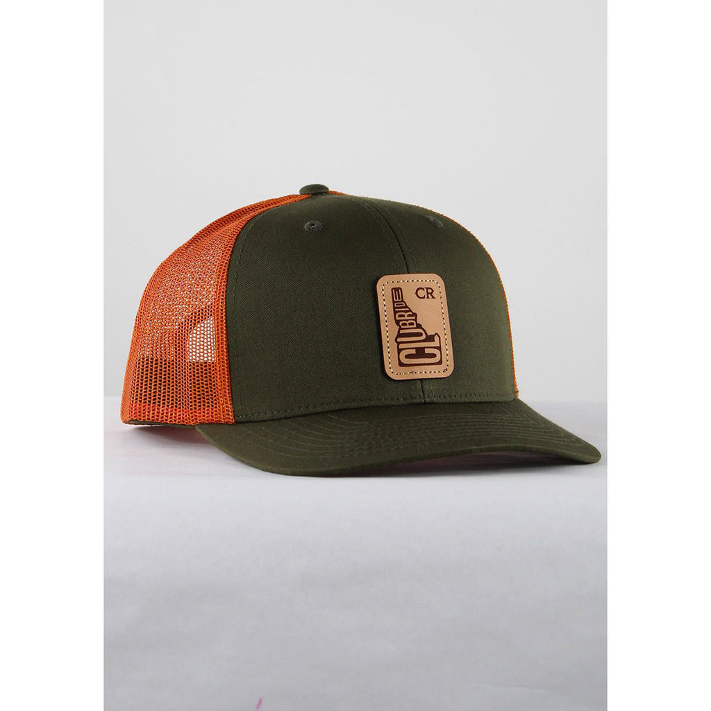 Classic CR Logo Trucker Hat - Olive/Rust | Action Pro Sports