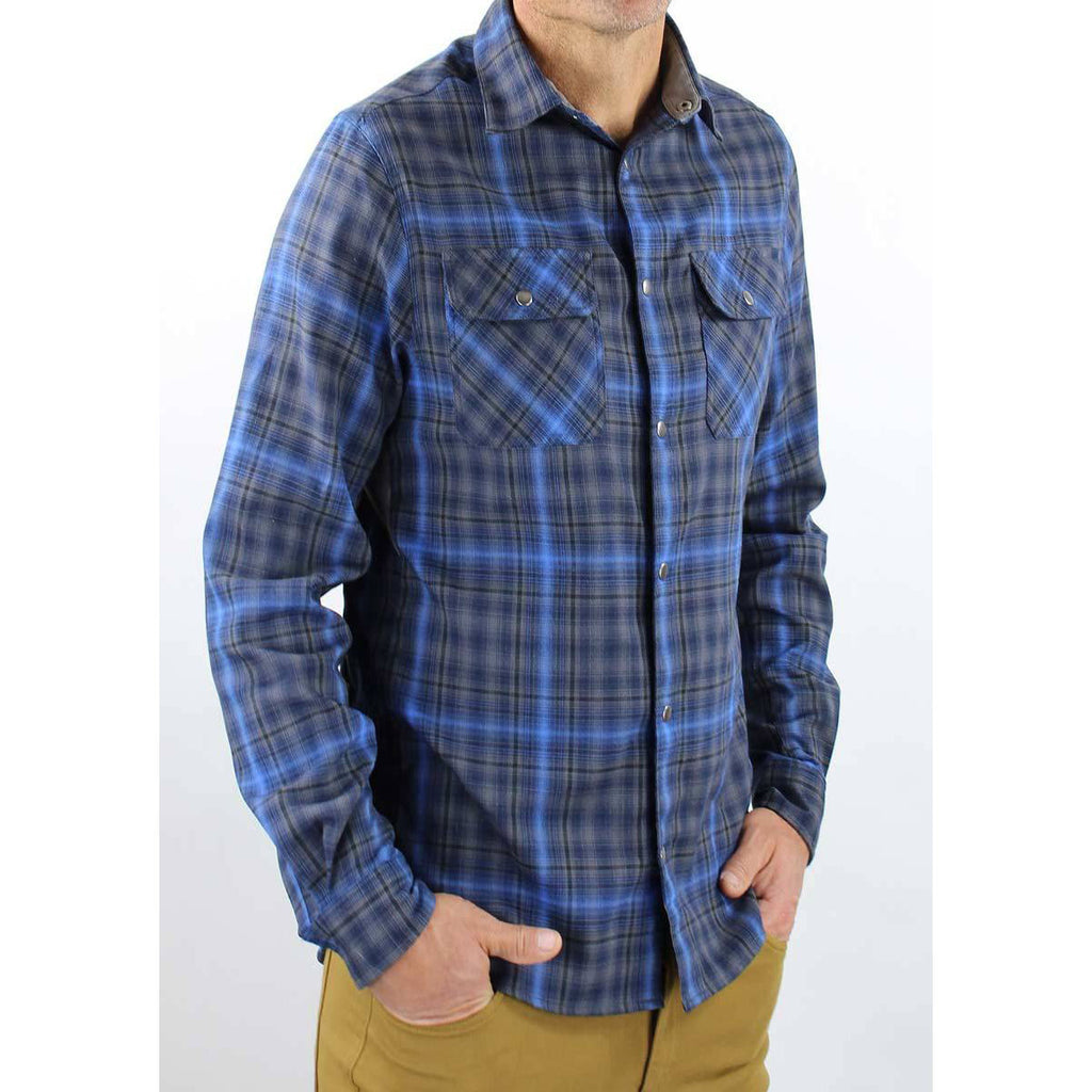 Daniel Flannel Men's Shirt - Steel/Cobalt | Action Pro Sports