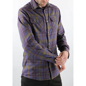 Daniel Flannel Men's Shirt - Grey/Navy | Action Pro Sports