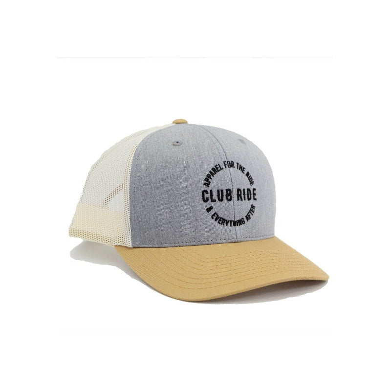 Crest Trucker Hat - Khaki | Action Pro Sports
