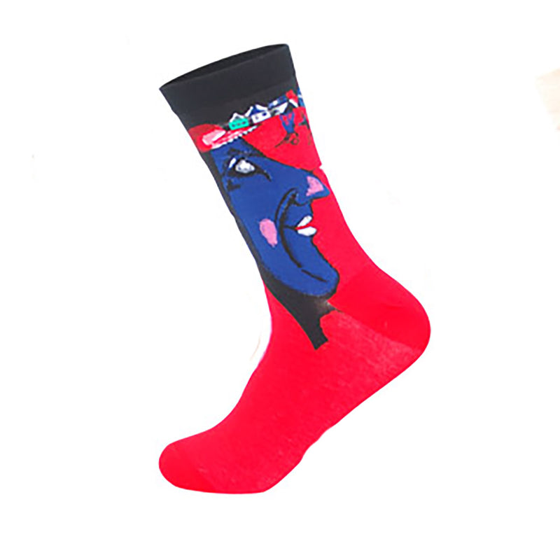 Cool Socks Dude - Sport & Dress Socks - Artistic Faces Crew Socks - Action Pro Sports