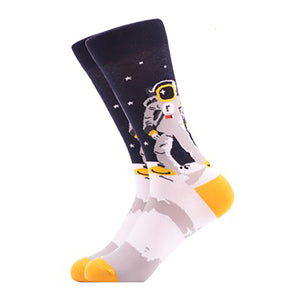 Cool Socks Dude - Sport & Dress Socks - Astronaut Crew Socks - Action Pro Sports