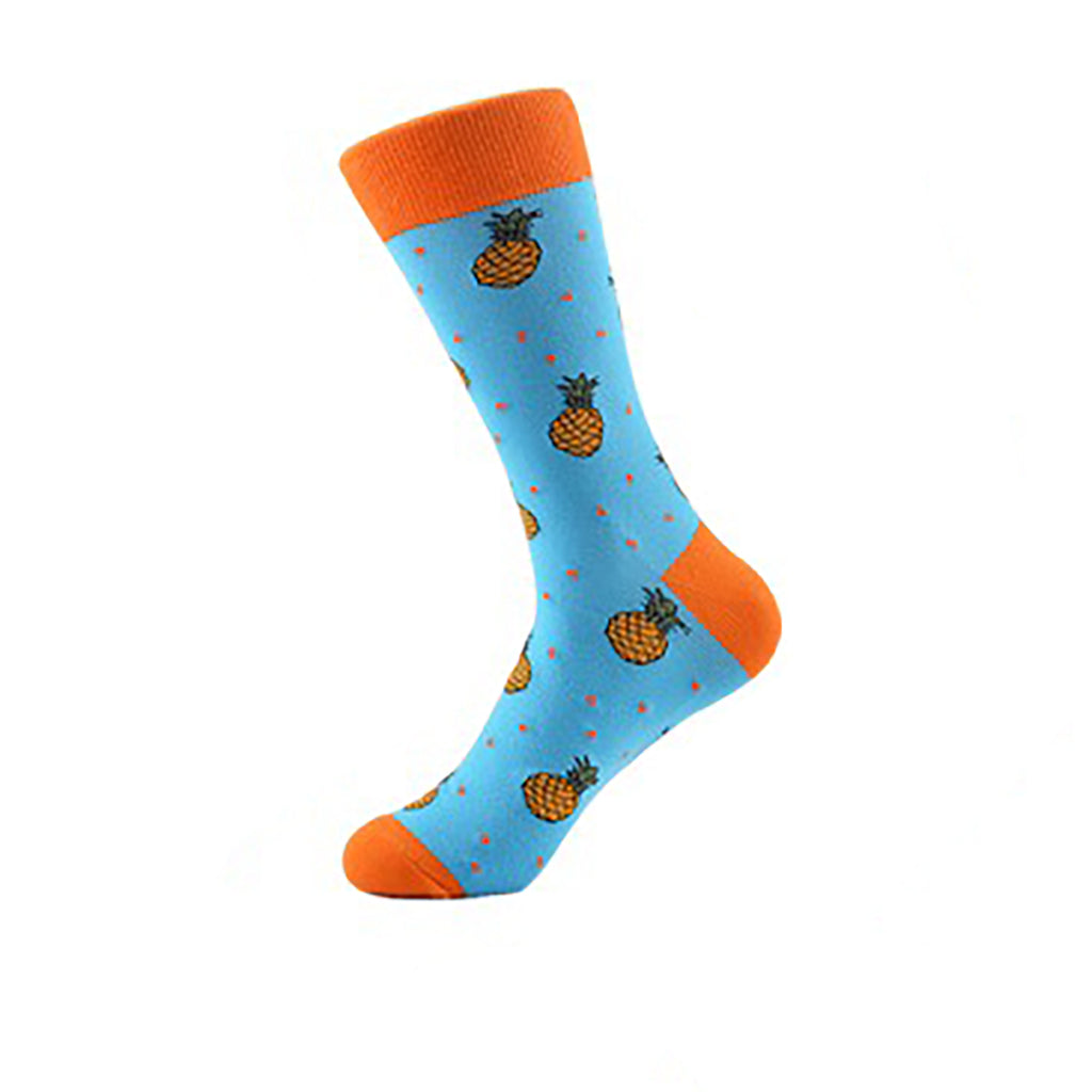 Cool Socks Dude - Sport & Dress Socks - Fresh Pineapple Crew Socks - Action Pro Sports