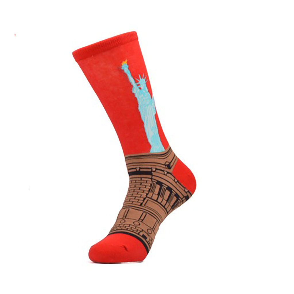 Statue Of Liberty Crew Socks - Action Pro Sports