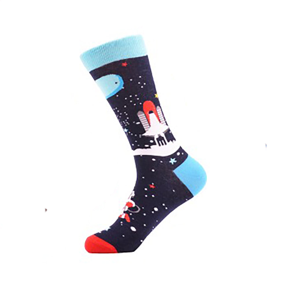 Rocket Ship Crew Socks - Action Pro Sports