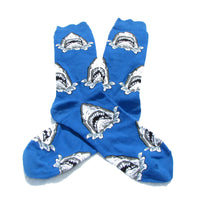 Cool Socks Dude - Sport & Dress Socks - Jaws Shark Crew Socks - Action Pro Sports