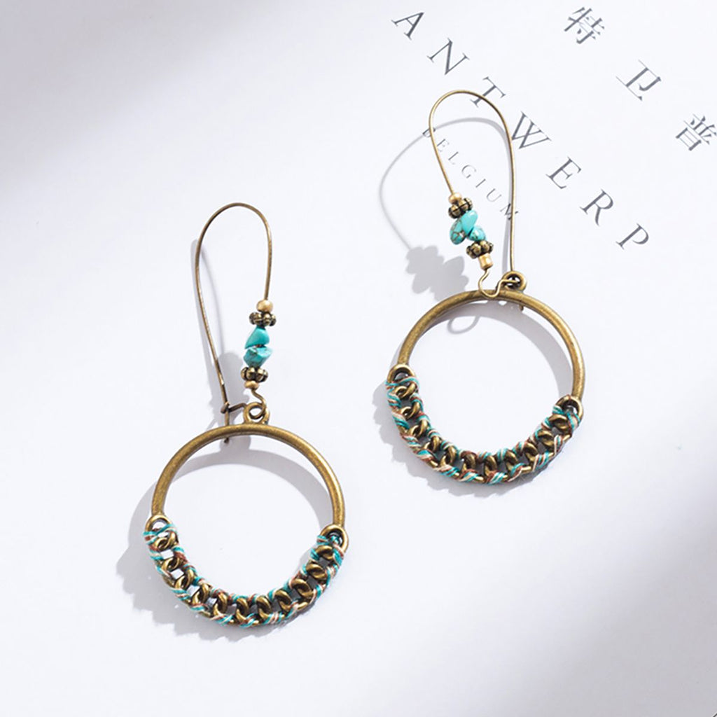 Ornate Circle Dangle Earrings - Action Pro Sports
