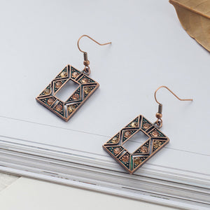 Square Rhinestone Earrings - Action Pro Sports