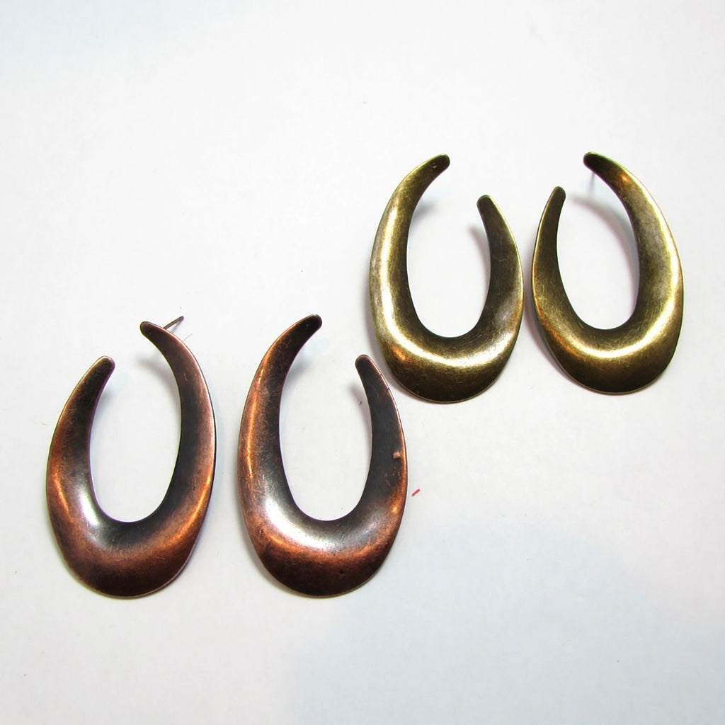 Geometric Crescent Hoop Earrings
