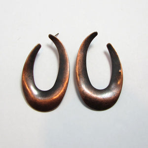 Geometric Crescent Hoop Earrings - Action Pro Sports