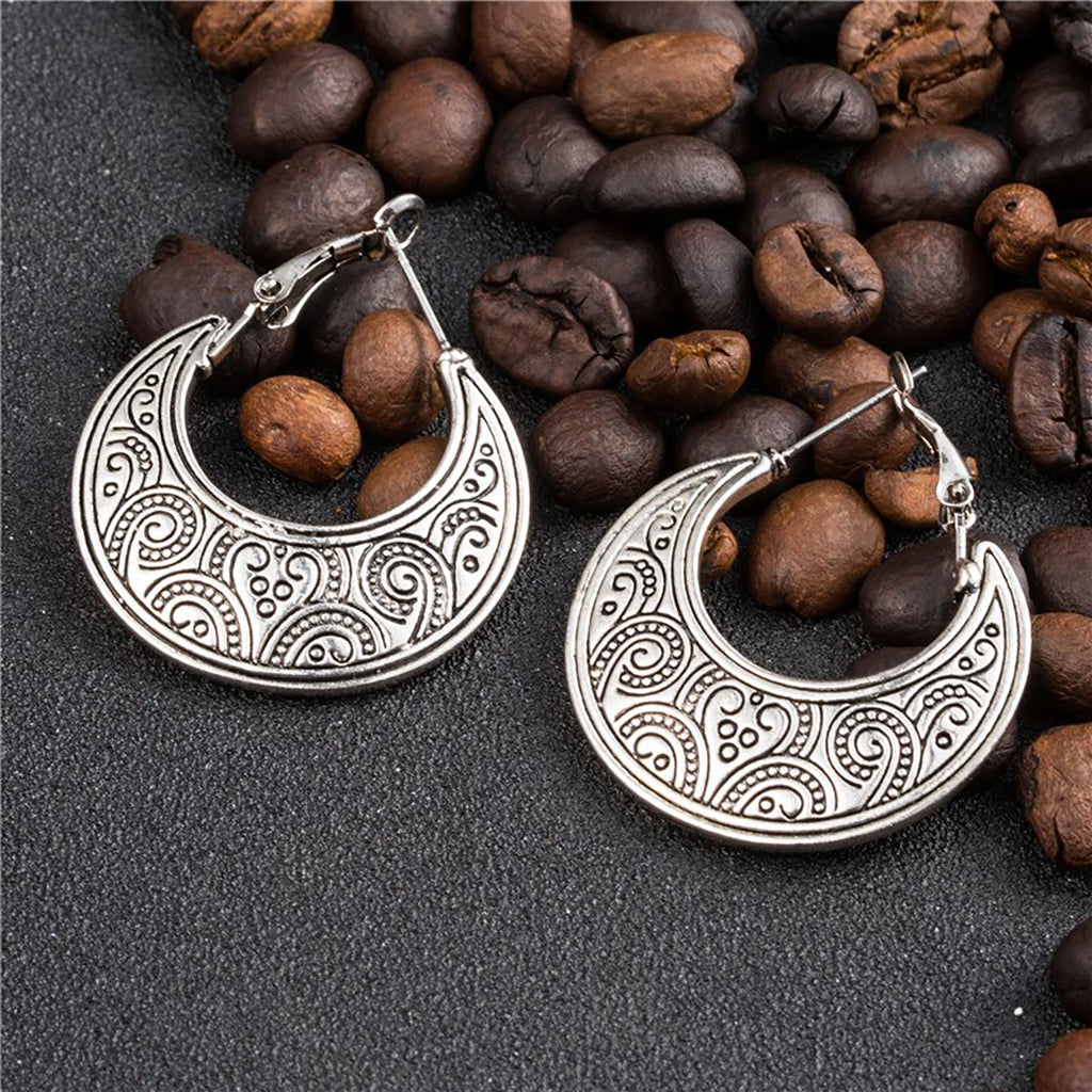 Vintage Crescent Moon Earrings - Action Pro Sports